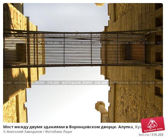 Мост между двумя зданиями в Воронцовском дворце. Алупка, Крым, фото № 318269, снято 19 мая 2006 г. (c) Анатолий Заводсков / Фотобанк Лори