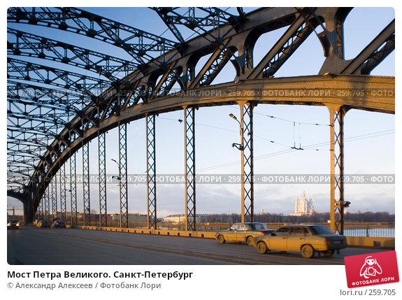 Купить «Мост Петра Великого. Санкт-Петербург», эксклюзивное фото № 259705, снято 2 декабря 2006 г. (c) Александр Алексеев / Фотобанк Лори