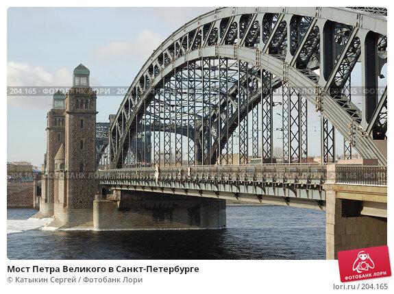 Мост Петра Великого в Санкт-Петербурге, фото № 204165, снято 16 февраля 2008 г. (c) Катыкин Сергей / Фотобанк Лори