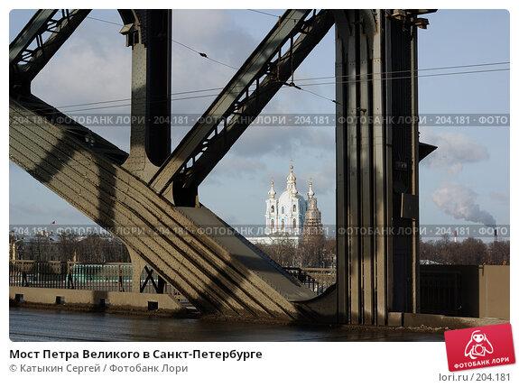 Мост Петра Великого в Санкт-Петербурге, фото № 204181, снято 16 февраля 2008 г. (c) Катыкин Сергей / Фотобанк Лори