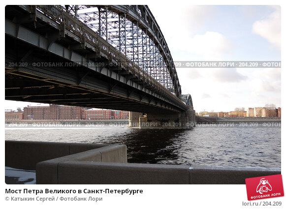 Купить «Мост Петра Великого в Санкт-Петербурге», фото № 204209, снято 16 февраля 2008 г. (c) Катыкин Сергей / Фотобанк Лори