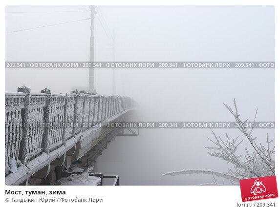Мост, туман, зима, фото № 209341, снято 24 июня 2017 г. (c) Талдыкин Юрий / Фотобанк Лори