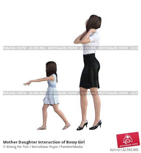 Купить «Mother Daughter Interaction of Bossy Girl», фото № 22593905, снято 18 ноября 2018 г. (c) PantherMedia / Фотобанк Лори