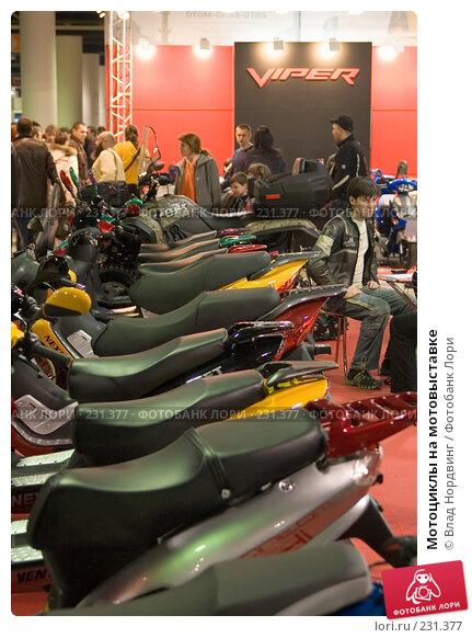 Купить «Мотоциклы на мотовыставке», фото № 231377, снято 22 марта 2008 г. (c) Влад Нордвинг / Фотобанк Лори