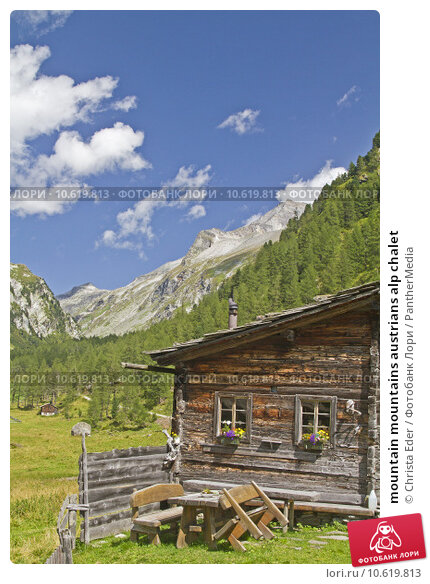 mountain mountains austrians alp chalet. Стоковое фото, фотограф Christa Eder / PantherMedia / Фотобанк Лори