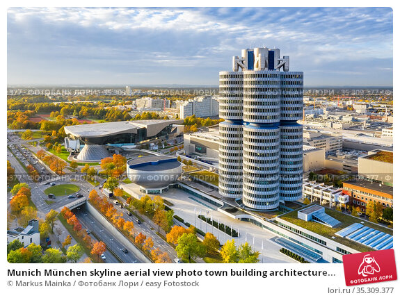 Munich München skyline aerial view photo town building architecture... Стоковое фото, фотограф Markus Mainka / easy Fotostock / Фотобанк Лори