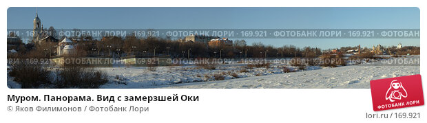 Муром. Панорама. Вид с замерзшей Оки, фото № 169921, снято 25 мая 2017 г. (c) Яков Филимонов / Фотобанк Лори