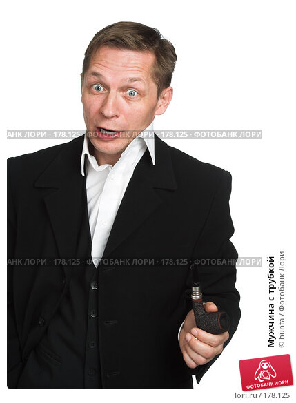 Мужчина с трубкой, фото № 178125, снято 18 октября 2007 г. (c) hunta / Фотобанк Лори