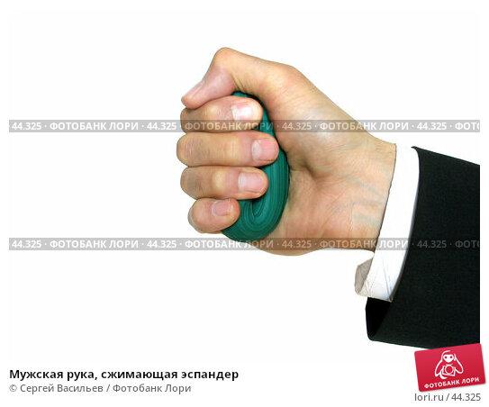 Купить «Мужская рука, сжимающая эспандер», фото № 44325, снято 13 мая 2007 г. (c) Сергей Васильев / Фотобанк Лори