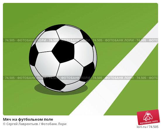 Мяч на футбольном поле, иллюстрация № 74505 (c) Сергей Лаврентьев / Фотобанк Лори