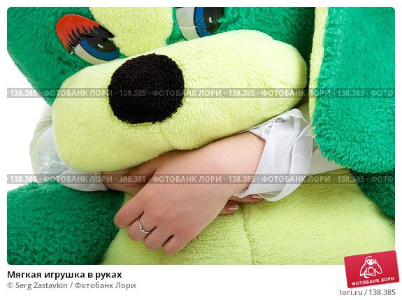 Мягкая игрушка в руках, фото № 138385, снято 8 декабря 2006 г. (c) Serg Zastavkin / Фотобанк Лори