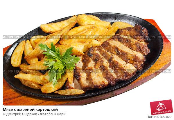 Мясо с жареной картошкой, фото № 309829, снято 29 мая 2008 г. (c) Дмитрий Ощепков / Фотобанк Лори