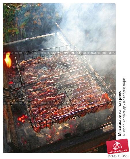 Мясо жарится на гриле, фото № 9353, снято 16 сентября 2006 г. (c) Тузов Александр / Фотобанк Лори