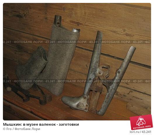 Купить «Мышкин: в музее валенок - заготовки», фото № 43241, снято 29 апреля 2006 г. (c) Fro / Фотобанк Лори