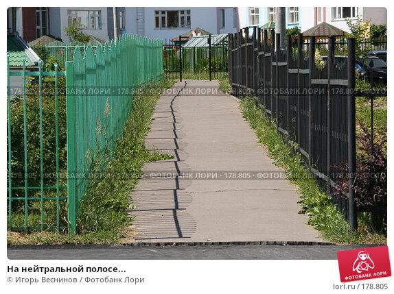 На нейтральной полосе..., фото № 178805, снято 12 июня 2007 г. (c) Игорь Веснинов / Фотобанк Лори