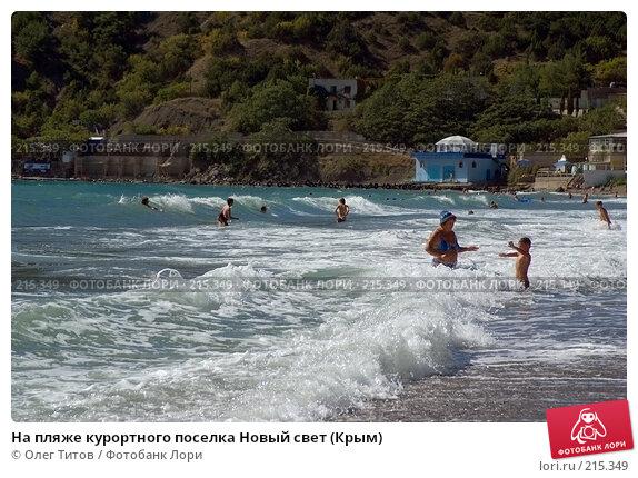 На пляже курортного поселка Новый свет (Крым), фото № 215349, снято 17 сентября 2006 г. (c) Олег Титов / Фотобанк Лори