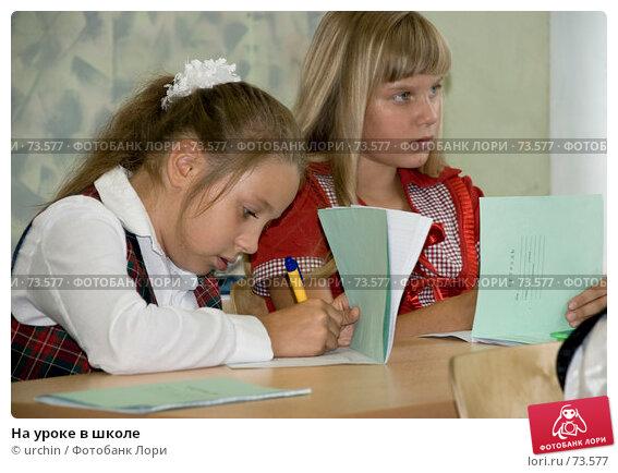 На уроке в школе, фото № 73577, снято 19 августа 2007 г. (c) urchin / Фотобанк Лори