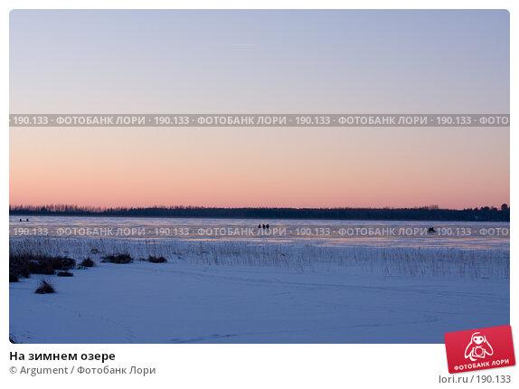 На зимнем озере, фото № 190133, снято 5 января 2008 г. (c) Argument / Фотобанк Лори