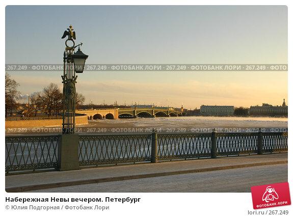 Набережная Невы вечером. Петербург, фото № 267249, снято 21 января 2006 г. (c) Юлия Селезнева / Фотобанк Лори