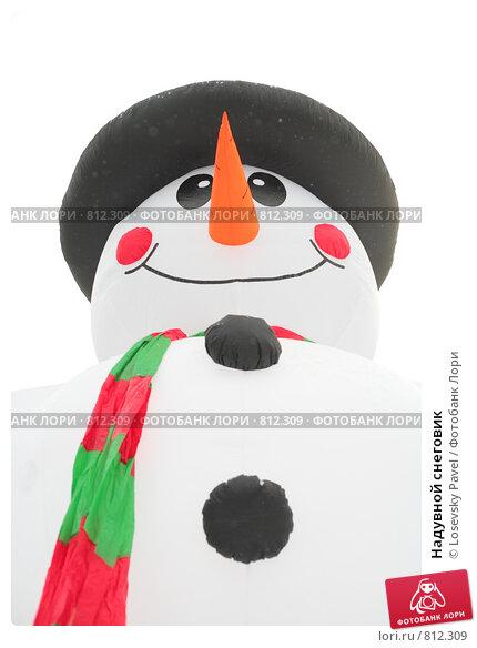 Купить «Надувной снеговик», фото № 812309, снято 8 января 2009 г. (c) Losevsky Pavel / Фотобанк Лори