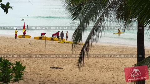 Купить «Nai Harn beach, south of Phuket Island», видеоролик № 30307289, снято 17 ноября 2018 г. (c) Игорь Жоров / Фотобанк Лори