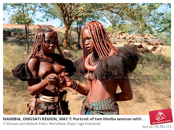 NAMIBIA, OMUSATI REGION, MAY 7: Portrait of two Himba woman with ... Стоковое фото, фотограф Zoonar.com/Artush Foto / age Fotostock / Фотобанк Лори