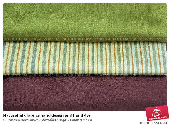 Купить «Natural silk fabrics hand design and hand dye», фото № 27811361, снято 24 февраля 2018 г. (c) PantherMedia / Фотобанк Лори