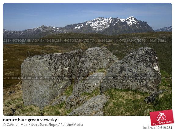 nature blue green view sky. Стоковое фото, фотограф Carmen Mair / PantherMedia / Фотобанк Лори