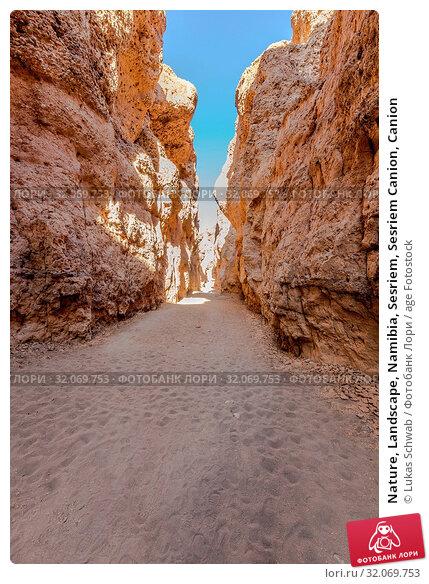 Nature, Landscape, Namibia, Sesriem, Sesriem Canion, Canion. Стоковое фото, фотограф Lukas Schwab / age Fotostock / Фотобанк Лори