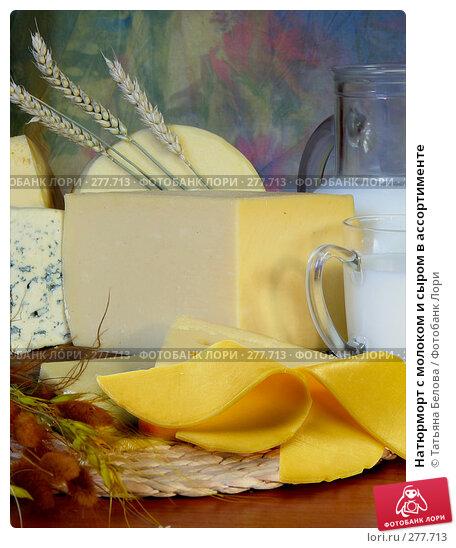 Купить «Натюрморт с молоком и сыром в ассортименте», фото № 277713, снято 19 апреля 2018 г. (c) Татьяна Белова / Фотобанк Лори