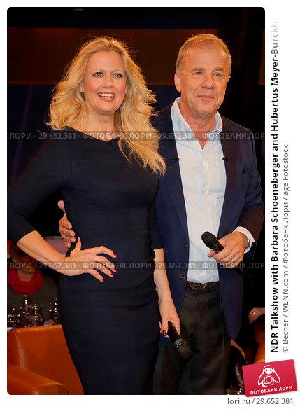 Купить «NDR Talkshow with Barbara Schoeneberger and Hubertus Meyer-Burckhard from NDR Studio Hamburg Lokstedt Featuring: Barbara Schoeneberger und Hubertus Meyer...», фото № 29652381, снято 9 марта 2018 г. (c) age Fotostock / Фотобанк Лори