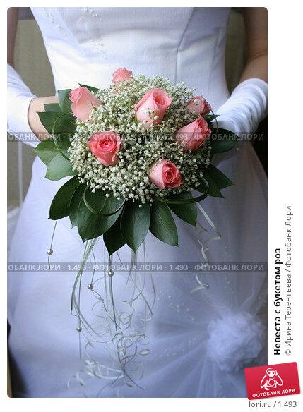Невеста с букетом роз, эксклюзивное фото № 1493, снято 29 июля 2005 г. (c) Ирина Терентьева / Фотобанк Лори