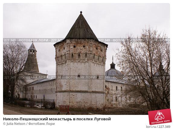 Николо-Пешношский монастырь в поселке Луговой, фото № 227349, снято 15 марта 2008 г. (c) Julia Nelson / Фотобанк Лори