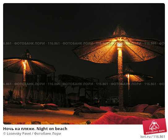 Купить «Ночь на пляже. Night on beach», фото № 116861, снято 10 января 2006 г. (c) Losevsky Pavel / Фотобанк Лори