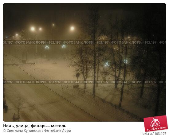 Ночь, улица, фонарь… метель, фото № 103197, снято 29 марта 2017 г. (c) Светлана Кучинская / Фотобанк Лори