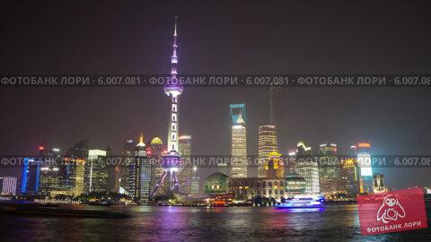Купить «Ночной Шанхай, таймлапс», видеоролик № 6007081, снято 28 мая 2014 г. (c) Кирилл Трифонов / Фотобанк Лори