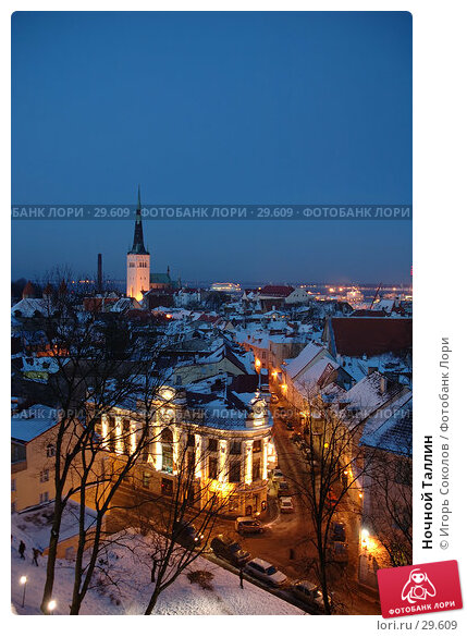 Ночной Таллин, фото № 29609, снято 23 марта 2017 г. (c) Игорь Соколов / Фотобанк Лори