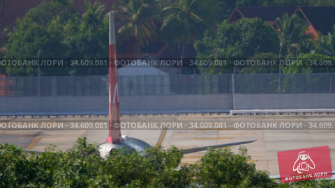 NordWind Airbus A330 taxiing on the tarmac. Редакционное видео, видеограф Игорь Жоров / Фотобанк Лори