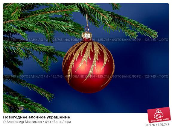 Новогоднее елочное украшение, фото № 125745, снято 3 декабря 2006 г. (c) Александр Максимов / Фотобанк Лори