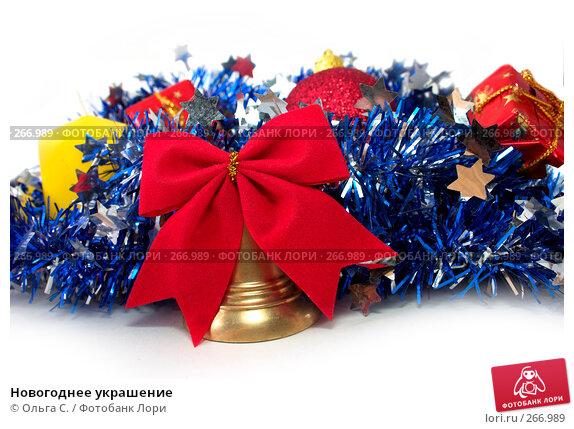 Новогоднее украшение, фото № 266989, снято 30 мая 2017 г. (c) Ольга С. / Фотобанк Лори