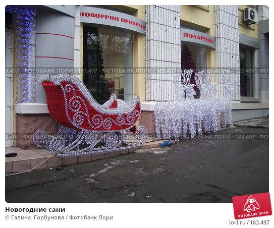 Новогодние сани, фото № 183497, снято 13 января 2007 г. (c) Галина  Горбунова / Фотобанк Лори
