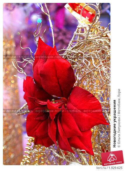 Новогодние украшения. Стоковое фото, фотограф Ольга Липунова / Фотобанк Лори