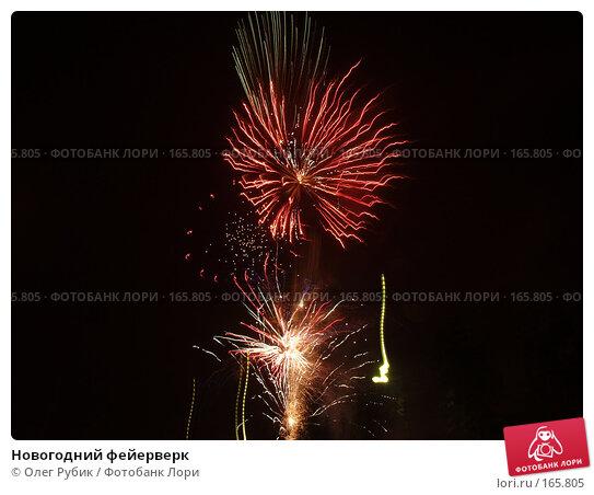 Новогодний фейерверк, фото № 165805, снято 1 января 2008 г. (c) Олег Рубик / Фотобанк Лори