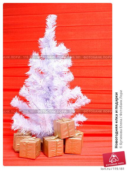 Новогодняя елка и подарки, фото № 119181, снято 18 ноября 2007 г. (c) Бутинова Елена / Фотобанк Лори