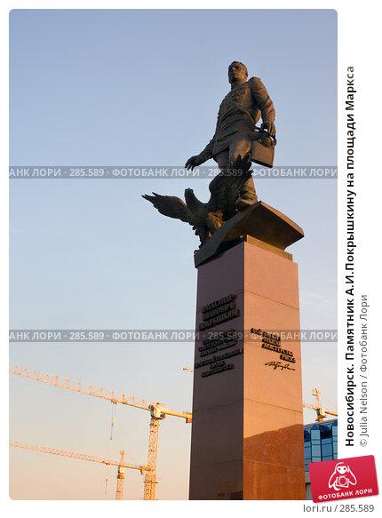 Новосибирск. Памятник А.И.Покрышкину на площади Маркса, фото № 285589, снято 21 апреля 2008 г. (c) Julia Nelson / Фотобанк Лори