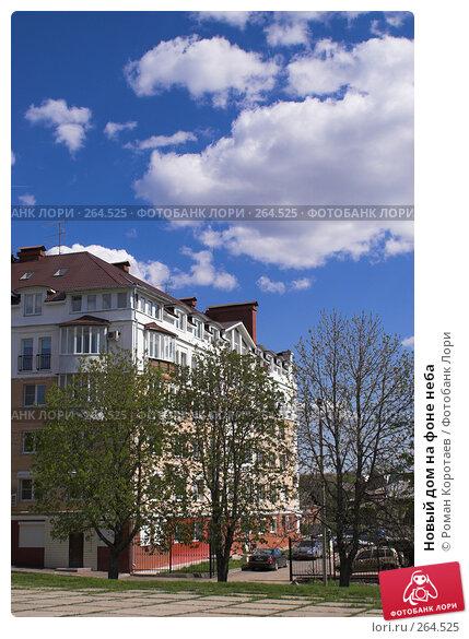 Новый дом на фоне неба, фото № 264525, снято 26 апреля 2008 г. (c) Роман Коротаев / Фотобанк Лори