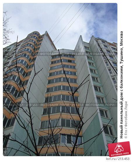 Купить «Новый панельный дом с балконами, Тушино, Москва», фото № 213453, снято 2 марта 2008 г. (c) Fro / Фотобанк Лори