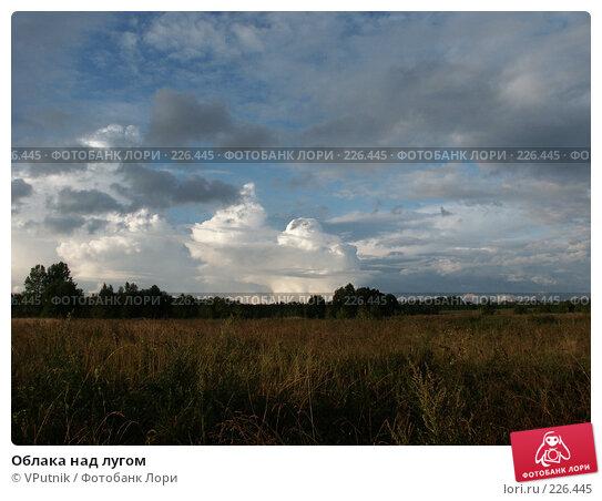 Облака над лугом, фото № 226445, снято 24 августа 2006 г. (c) VPutnik / Фотобанк Лори