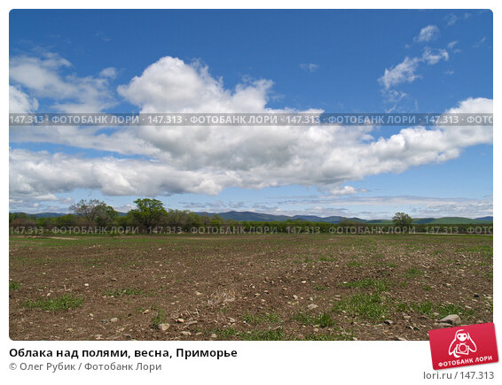 Облака над полями, весна, Приморье, фото № 147313, снято 27 мая 2007 г. (c) Олег Рубик / Фотобанк Лори