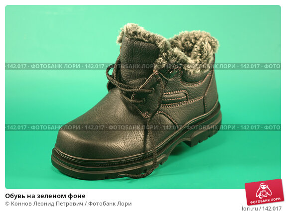 Обувь на зеленом фоне, фото № 142017, снято 8 декабря 2007 г. (c) Коннов Леонид Петрович / Фотобанк Лори